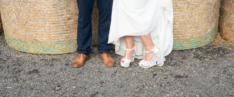 Farm Wedding, DIY shoes