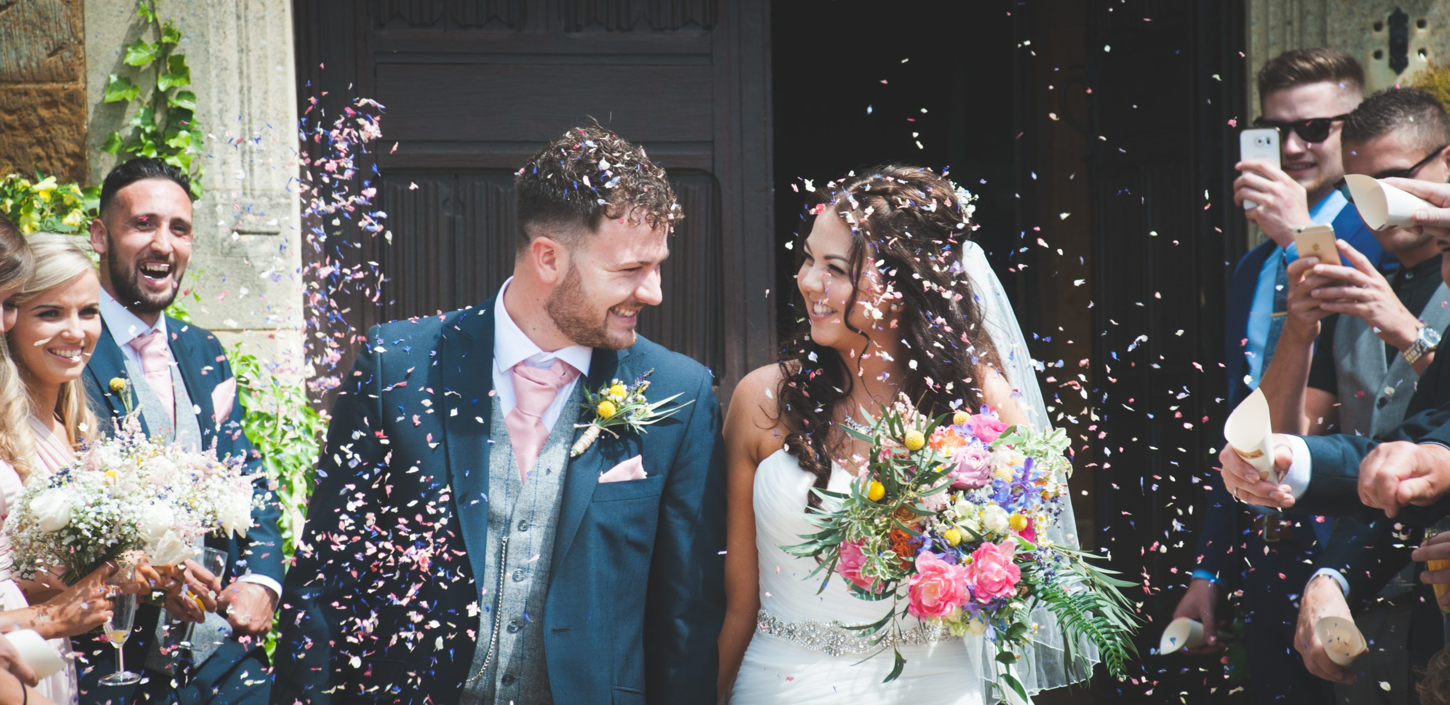 Confetti, highgate house, wedding photographer northamptonshire