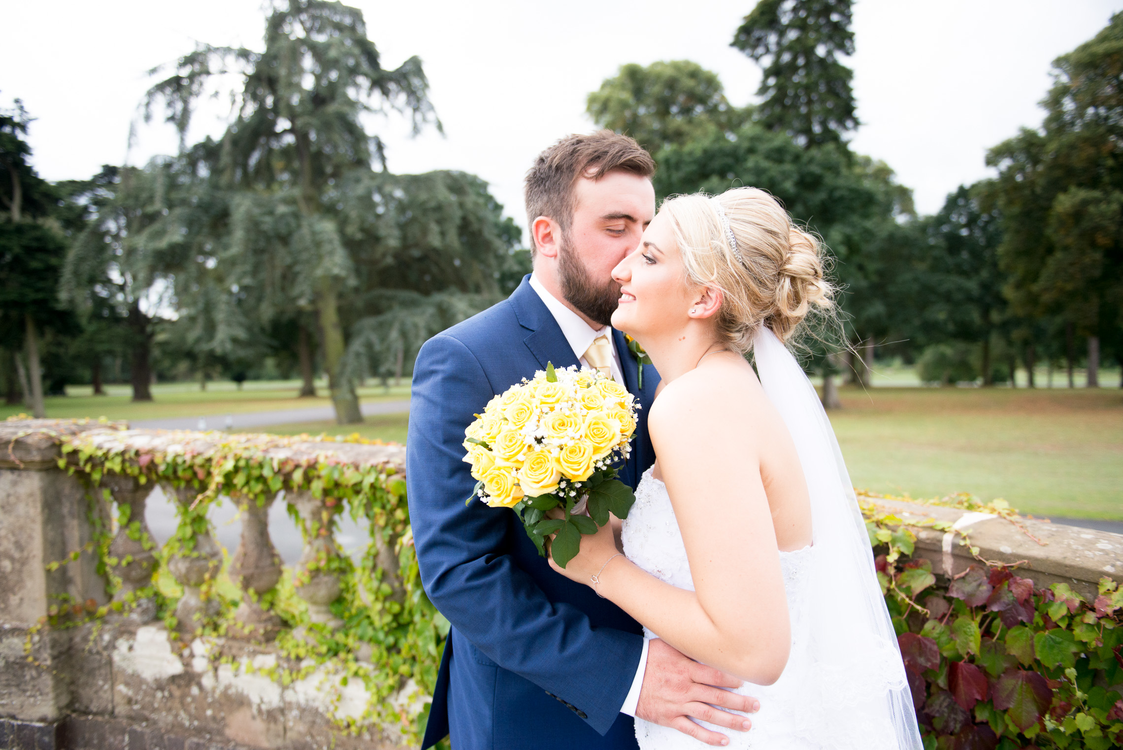 Yellow and Blue Themed wedding, Chataeu Impney Worcestershire