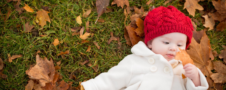 Autumn baby photography