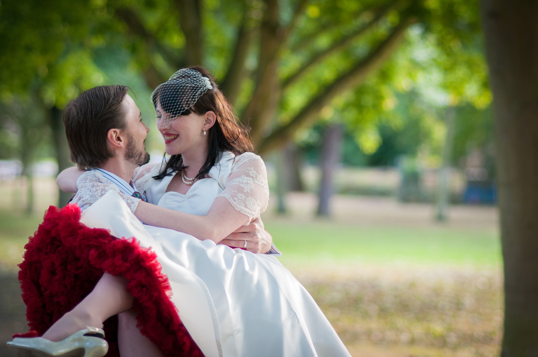 Happy couple, vintage wedding