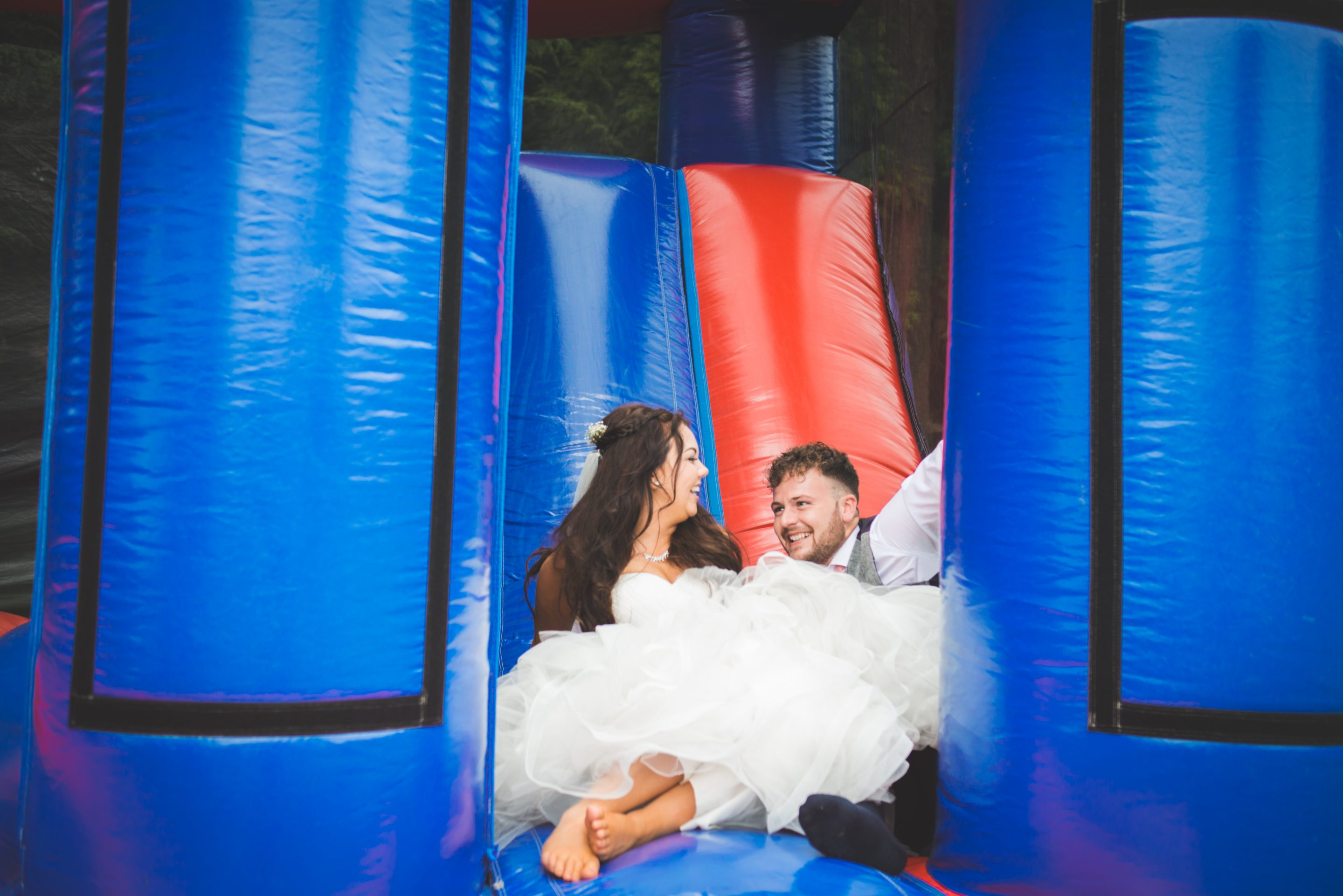 Bouncy Castle for the bride and groom