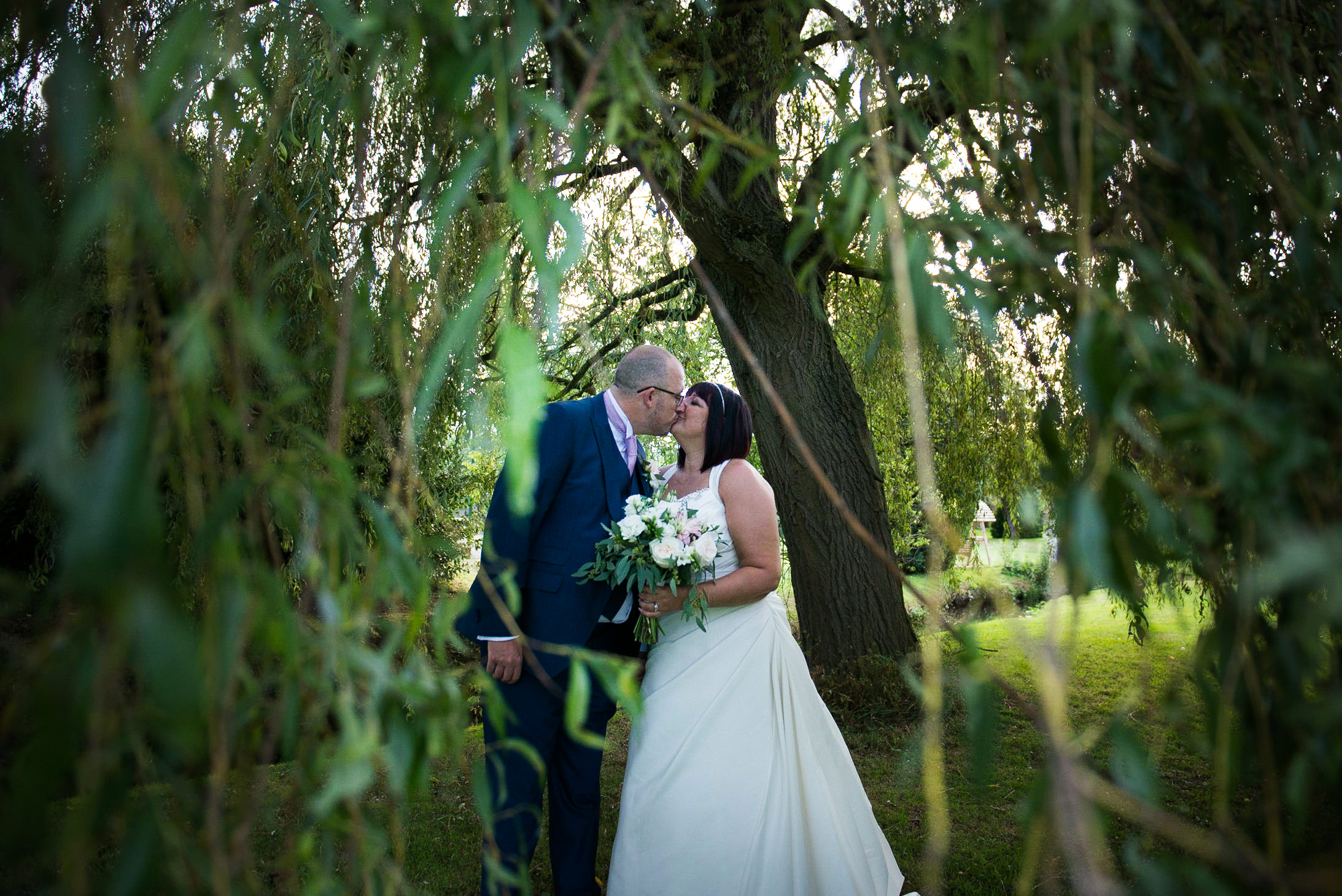 Bride and groom, Riverside wedding venue
