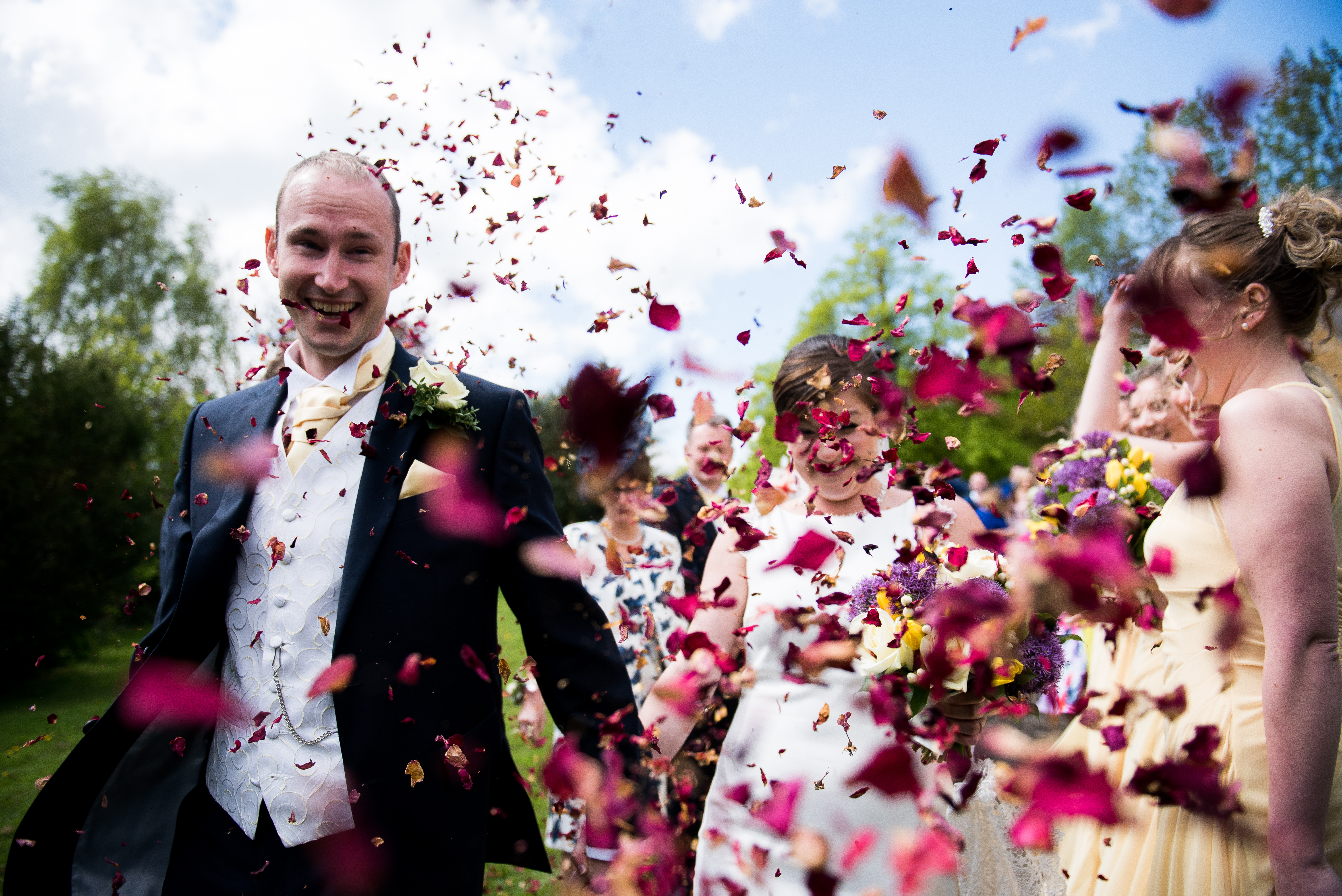 all the confetti at Highgate House