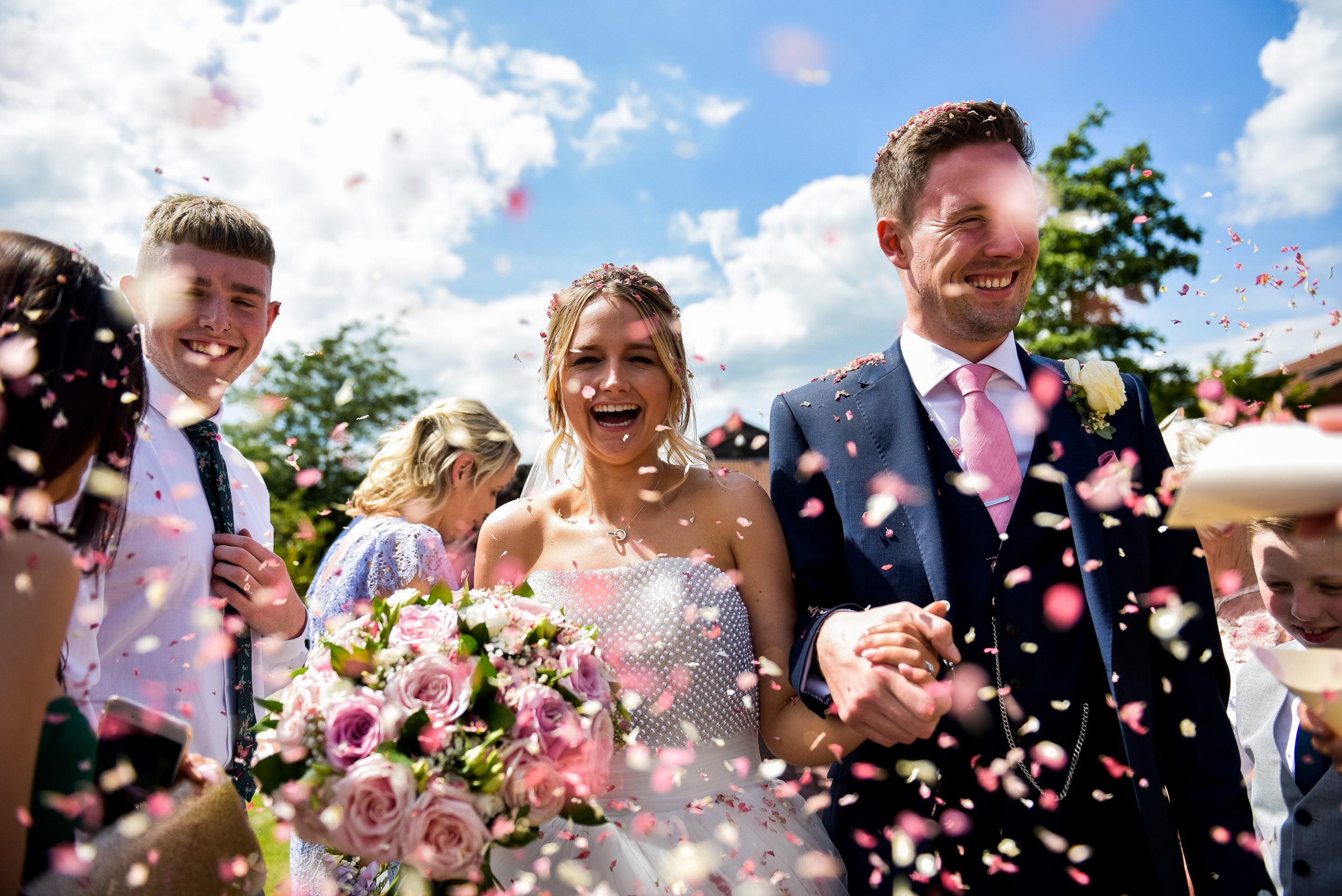 Confetti shot at Rockingham Forest Hotel